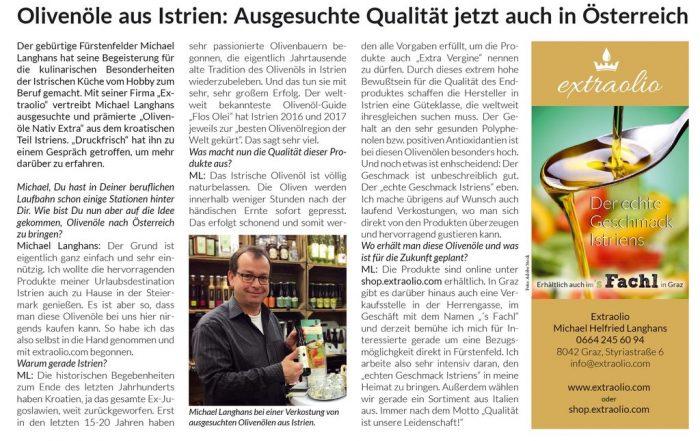 """""""Druckfrisch""""-Interview mit Extraolio-Gründer Michael Langhans"""