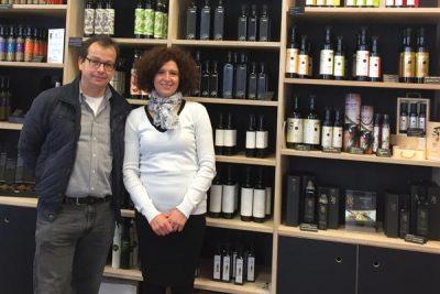 """Lorena Boljuncic und Michael Langhans (extraolio) im """"Museum Olei Histriae"""" in Pula"""